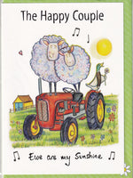 Sheep The Happy Couple Greetings Card - The Compost Heap