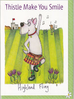 Thistle Make You Smile Highland Fling Greetings Card - The Compost Heap