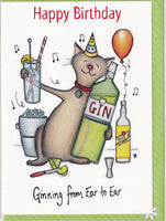 Happy Birthday Ginning From Ear To Ear Birthday Card - The Compost Heap