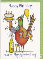 Happy Birthday Have A Magnipheasant Day Birthday Card - The Compost Heap