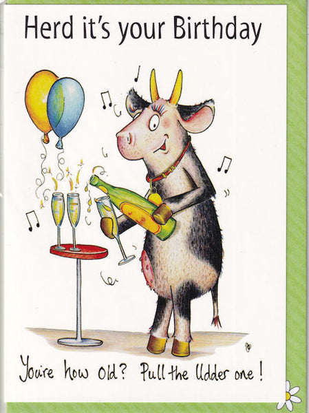 Herd It's Your Birthday Card cow - The Compost Heap