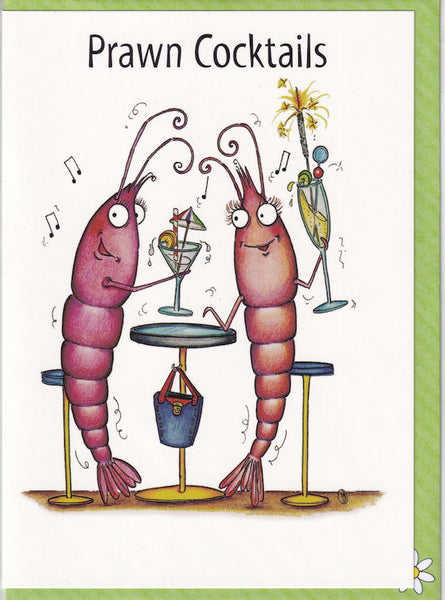 Prawn Cocktails Greetings Card - The Compost Heap