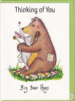 Thinking Of You Big Bear Hugs Greetings Card - The Compost Heap