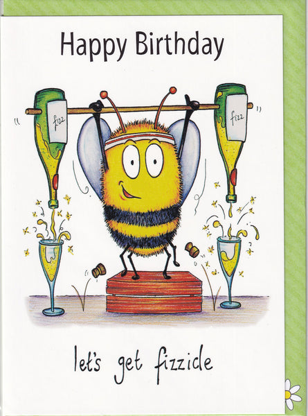 Happy Birthday Let's Get Fizzicle Birthday Card - The Compost Heap