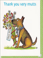 Thankyou Very Mutts Dog Greetings Card - The Compost Heap