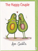 The Happy Couple Avo-Cuddle Greetings Card - The Compost Heap