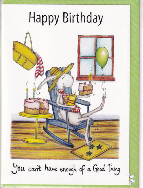 Happy Birthday A Good Thing Birthday Card - The Compost Heap