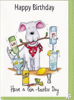 Happy Birthday Have A Gin-tastic Day Birthday Card - The Compost Heap