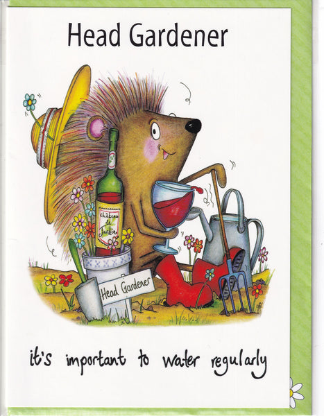 Head Gardener It's Important To Water Regularly Greetings Card - The Compost Heap