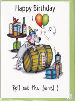 Happy Birthday Roll Out The Barrel! Birthday Card - The Compost Heap