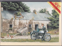 Rest For A Norton Motorcycle Greetings Card - Trevor Mitchell