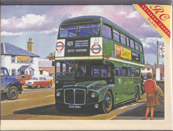 RML Routemaster Bus Greetings Card - Malcolm Root