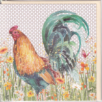 Rooster Cockerel Greetings Card - Nigel Quiney
