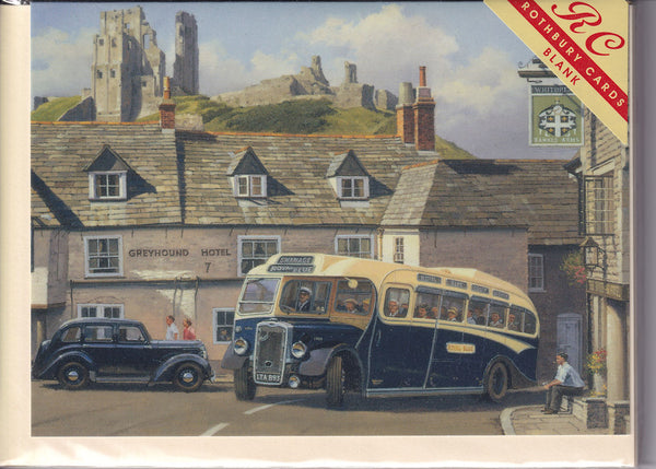 Royal Blue Bus Greetings Card - Malcolm Root