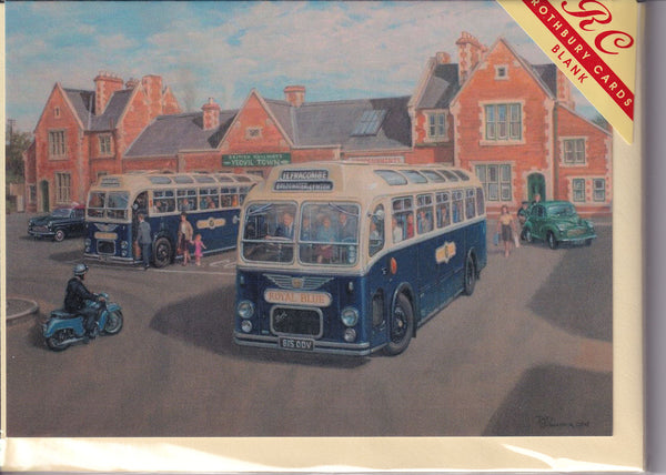 Royal Blue Bus Service At Yeovil Greetings Card - Robin Pinnock