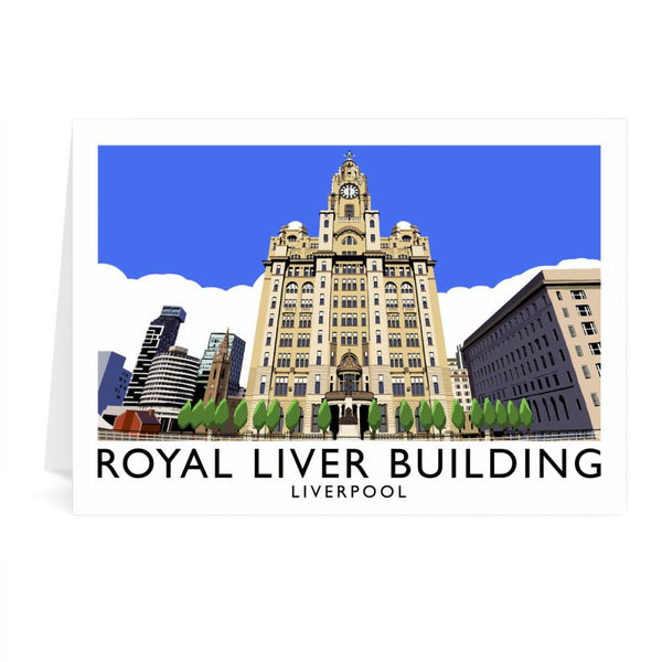Royal Liver Building Liverpool Greetings Card - Richard O'Neill