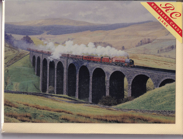 Royal Train At Arten Gill Viaduct Greetings Card - Malcolm Root