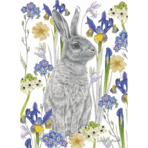 Hidden Hare Greetings Card - Anne Mortimer