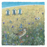 Sandpiper Bird On The Dunes Seaside Charm Greetings Card - Anne Mortimer