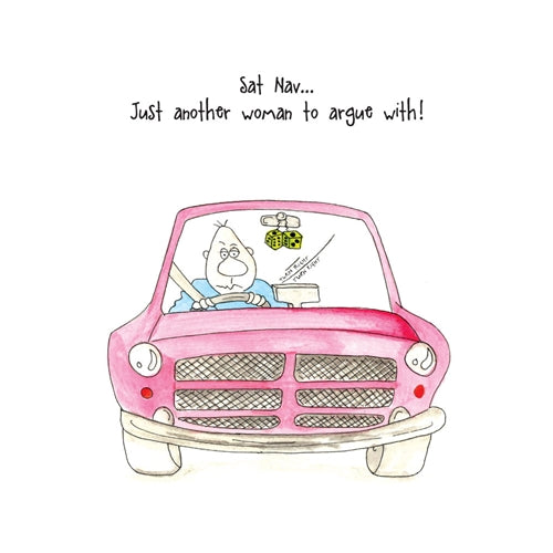Sat Nav Woman Camilla & Rose Greetings Card