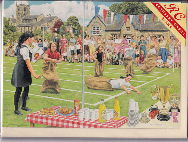 School Sports Day Greetings Card - Trevor Mitchell