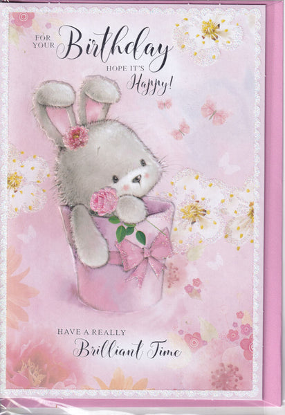 For Your Birthday Hope It's Happy! Glitter Birthday Card