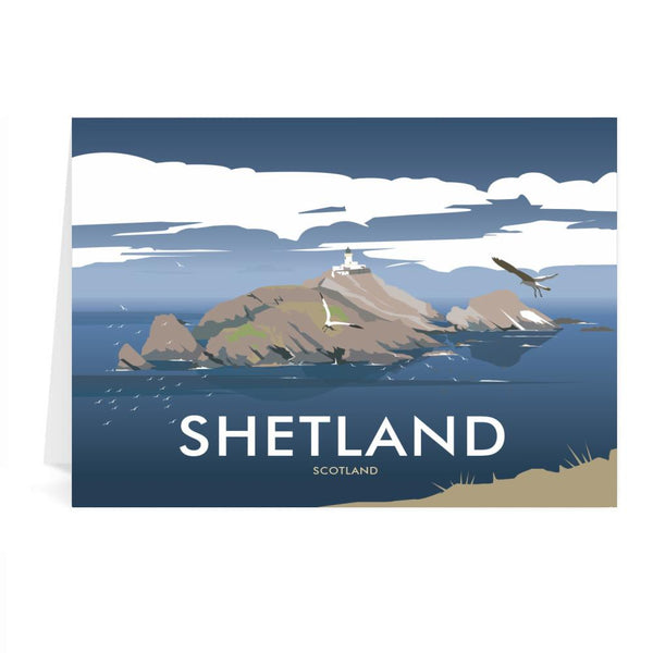 Shetland Scotland Greetings Card - Dave Thompson