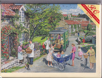 Shopping For Essentials Mobile Shop Greetings Card - Trevor Mitchell
