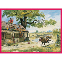 Show No Fear Greetings Card - Thelwell horses