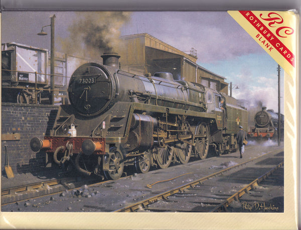 Shrewsbury Standard Steam Train Greetings Card - Philip Hawkins