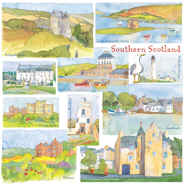 Southern Scotland Watercolour Greetings Card - Emma Ball