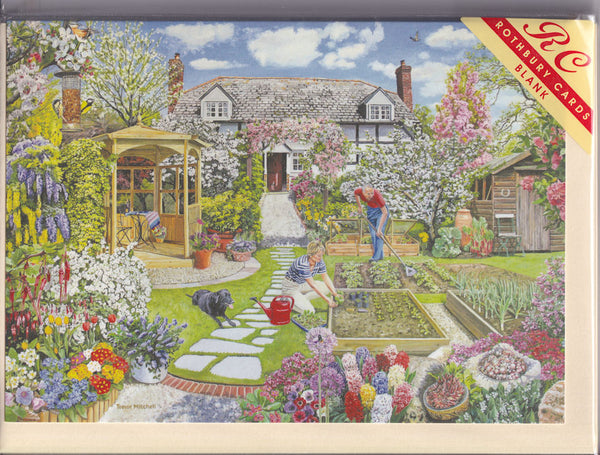 Spring Garden Greetings Card - Trevor Mitchell