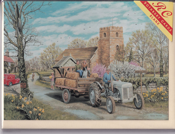 Spring Village Greetings Card - Trevor Mitchell
