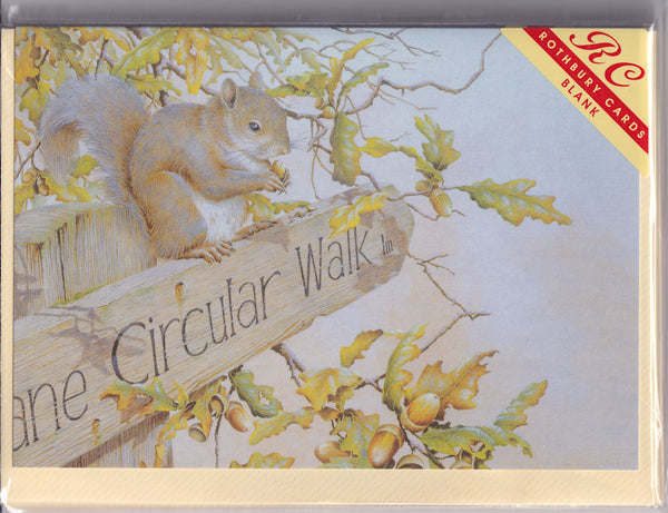 Squirrel Way Greetings Card - Sonya Marshall