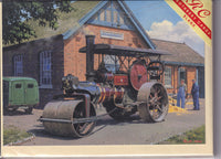 Steam Roller Road Roller Greetings Card - Malcolm Root