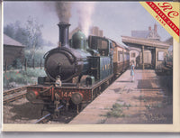 Steam Train At Wallingford Station Greetings Card - Philip Hawkins