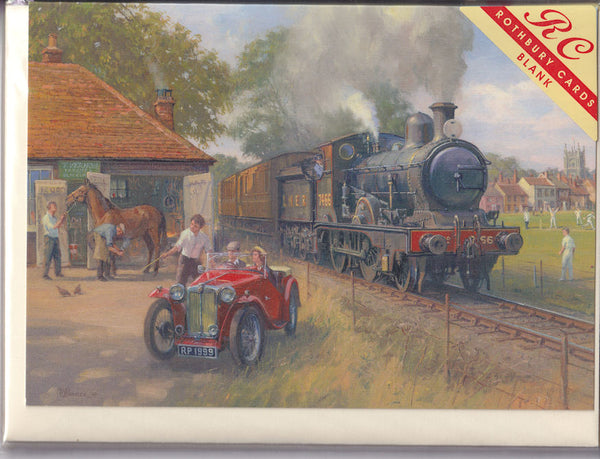 Steam Train Out Of Essex Greetings Card - Robin Pinnock