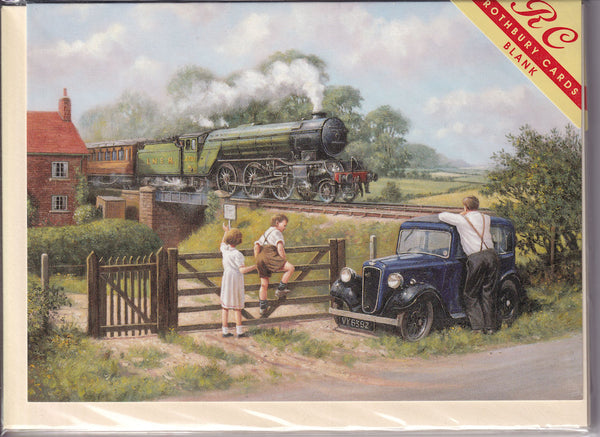 Steam Train Passing By Greetings Card - Kevin Walsh