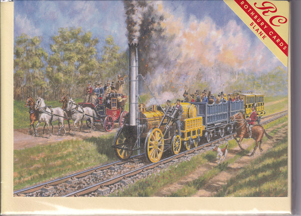 Stephenson's Rocket Steam Train Greetings Card - Robert Nixon
