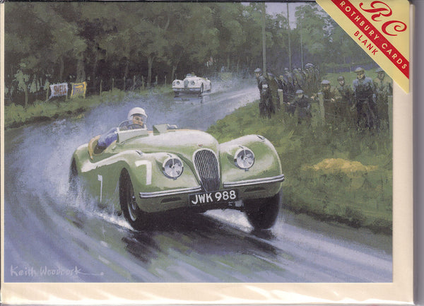 Stirling Moss To Victory Greetings Card - Keith Woodcock