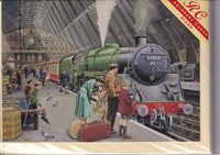 St Pancras Train Station In The 50's Greetings Card - Trevor Mitchell