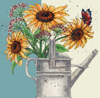 Sunflowers Greetings Card - Caroline Cleave