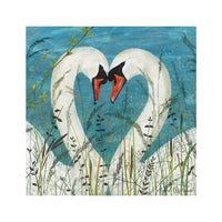 Swans Greetings Card - Anne Mortimer