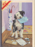 Terrier Dog Mail Menace Greetings Card - Kevin Walsh