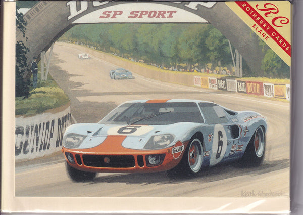 Tertre Rouge Le Mans Greetings Card - Keith Woodcock