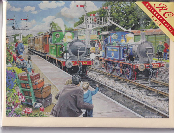 The Bluebell Railway Greetings Card - Trevor Mitchell