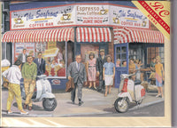 The Coffee Bar Greetings Card - Trevor Mitchell