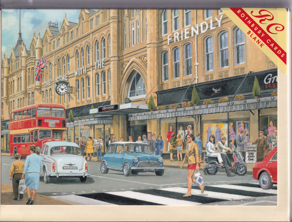 The Department Store In Town Greetings Card - Trevor Mitchell