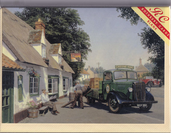 The Dog And Duck Inn Greetings Card - Malcolm Root