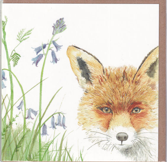The Ever-Watchful Fox Greetings Card - Sarah Reilly